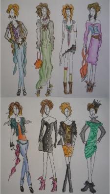 Fashion Sketches No 2